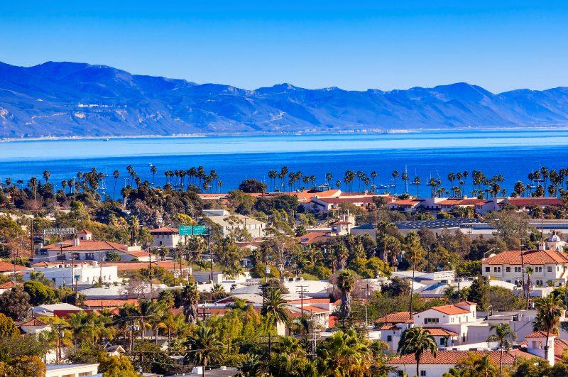view of santa barbara and beach