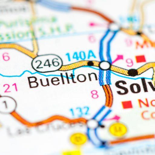 Buellton location on a map.