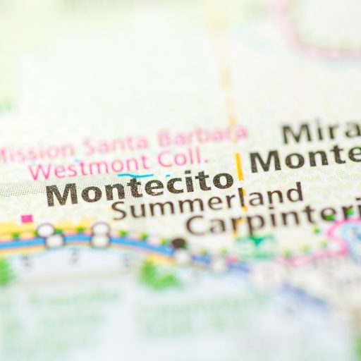 Montecito location on a map